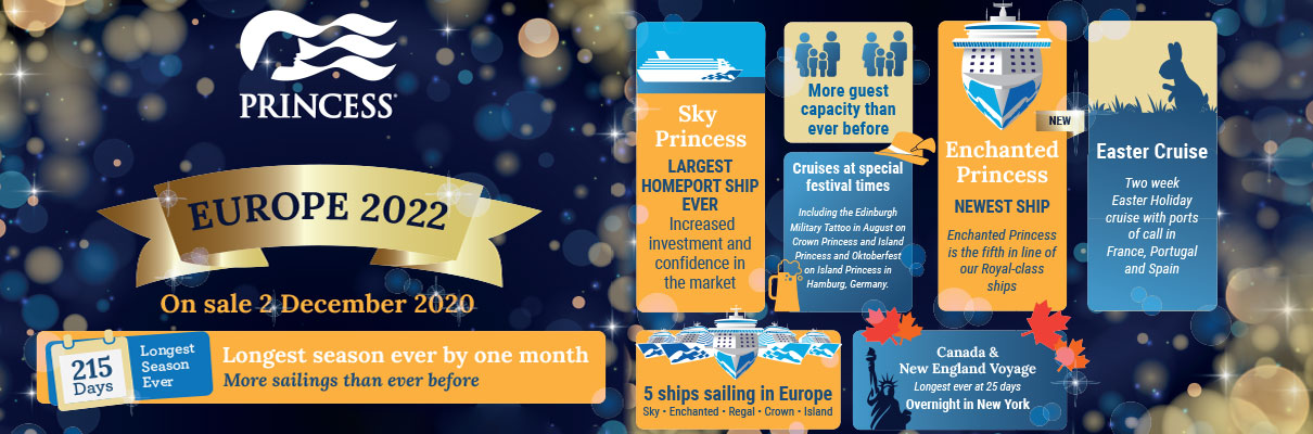 Sky Princess Cruises From Southampton in 2022