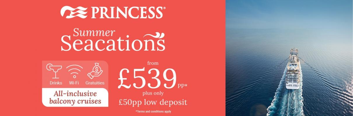 Princess Cruises Offers UK Seacations This Summer
