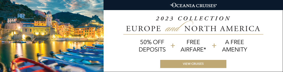Oceania Cruises 2023 Europe & North America Collection